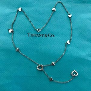 Tiffany & Co Lariat heart chain necklace perfect